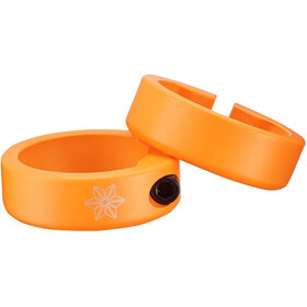 Supacaz Star Ringz Klemmringe neon orange matt-pulverbeschichtet